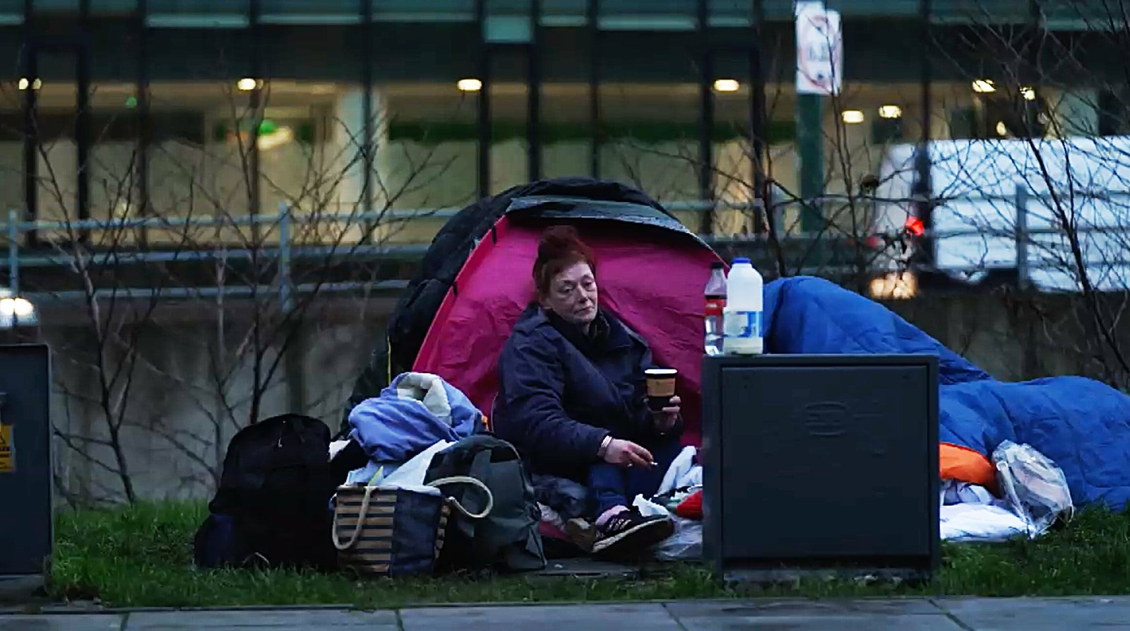 Image - 39-year-old Natalie has been living in a tent beside Dublin's Grand Canal for the last few months