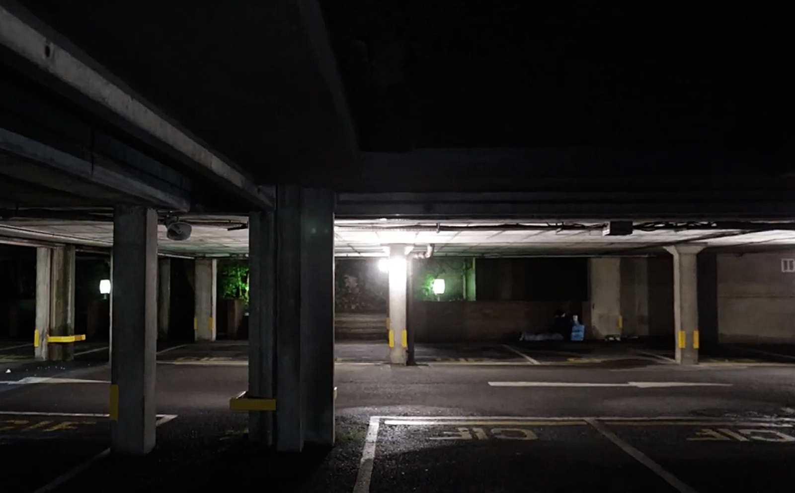 Image - One homeless man slept in this multi-storey car park after being refused a hostel bed