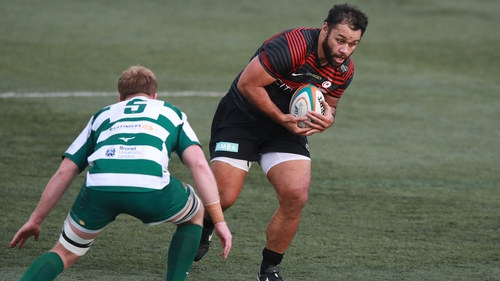 Billy Vunipola in action for Saracens during the defeat to Ealing Trailfinders