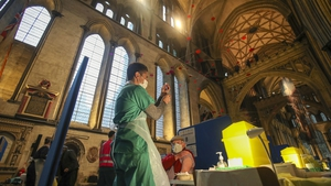 Local GPs invited patients in the over-80s priority group to attend the cathedral for their first Covid-19 jab