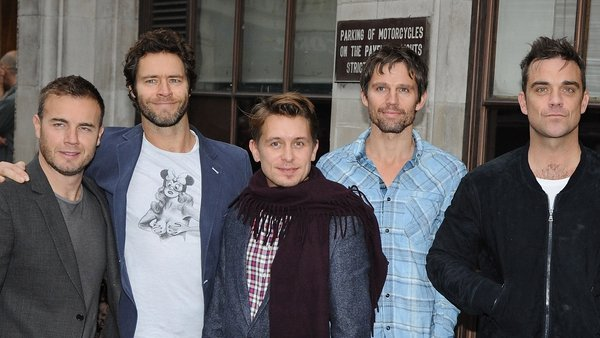Relight the fire? Gary Barlow, Howard Donald, Mark Owen, Jason Orange and Robbie Williams of Take That