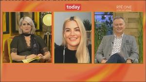 Lyra chatting to Sinead Kennedy and Dáithí Ó Sé on The Today Show