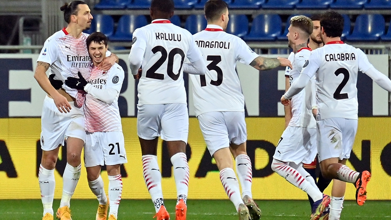 Ibrahimovic sends AC Milan back to top spot in Serie A