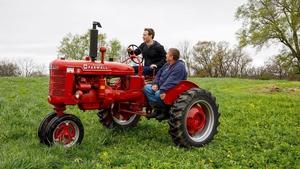 Mark Zuckerberg on the Gant family farm in Blanchardville, Wisconsin in April 2017