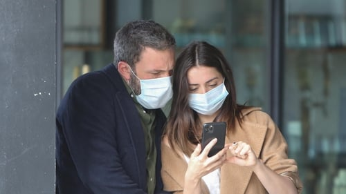 Ben Affleck and Ana de Armas are seen on April 18, 2020 in Los Angeles, California. (Photo by BG004/Bauer-Griffin/GC Images)