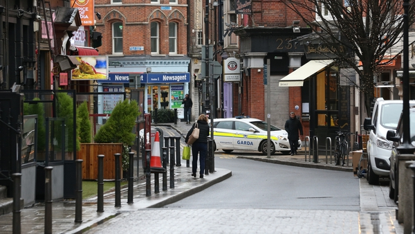 A quiet Dublin city centre as Level 5 restrictions look set to be extended (Pic: RollingNews.ie)