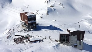 Aerial view of the Col des Gentianes pass