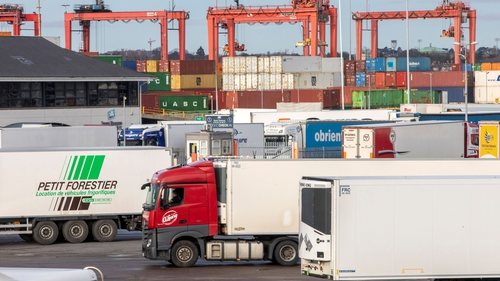 Trucks at Dublin Port