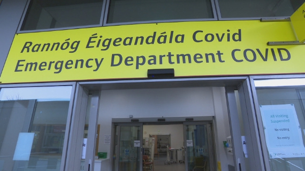 1,949 people were in hospital with Covid-19 on Tuesday