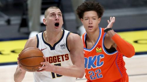 Nikola Jokic in action against the Oklahoma City