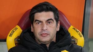 Paulo Fonseca, head coach of Roma looks on during the Coppa Italia match against AC Spezia