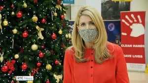 """Karen Creed reporting from St James's Hospital at Christmas. """"It was a good moment to be able to report on the first Covid vaccine being given here"""""""