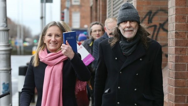Gemma O'Doherty and John Waters outside the Court of Appeal (Pic: RollingNews.ie)
