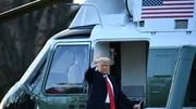 Donald Trump left the White House on Marine One