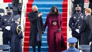 Former President Barack Obama and Michelle Obama at the inauguration