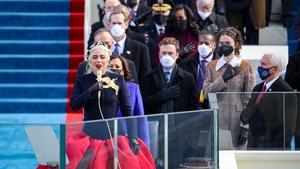 Lady Gaga sings the National Anthem