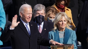 Joe Biden is sworn in as US President during his inauguration on the West Front of the US Capitol