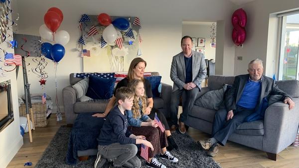 The Blewitt family celebrating Joe Biden's inauguration