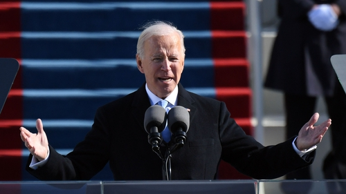 Joe Biden used his first speech as US President to appeal for unity