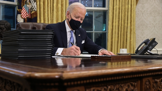 Biden signs executive orders, reversing Trump policies