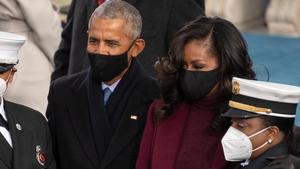 Former US President Barack Obama and Former US First Lady Michelle Obama.