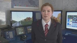Muscovite SofiaDorofeyeva has become an assistant train driver
