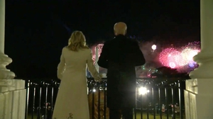 The fireworks are held during the Celebrating America Primetime Special, a livestream event hosted by actor Tom Hanks