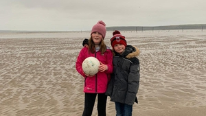 Aoife and her brother Dara at the beach in Waterford