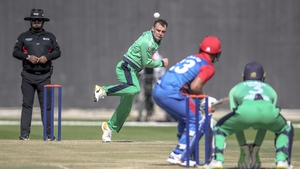 Andy McBrine was the pick of the Ireland bowlers, taking an impressive five for 29 (photo/Abu Dhabi Cricket)