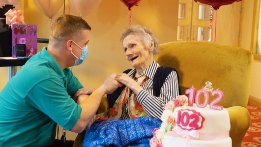 102-year-old among those vaccinated at nursing home
