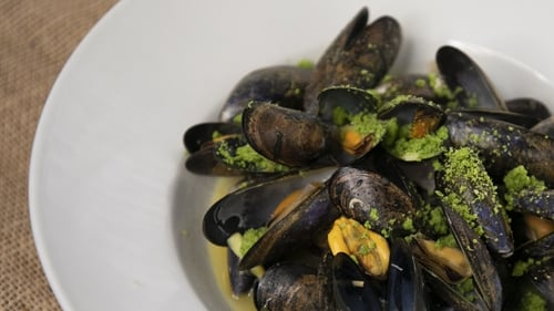 Paul Flynn's Mussels with clementine and ginger butter