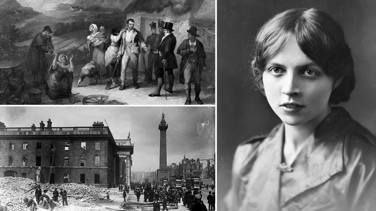 A montage of images from the RTE History website