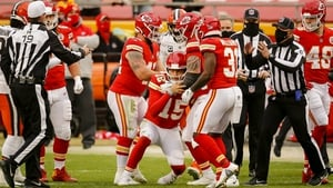 A groggy Patrick Mahomes struggled to get to his feet after he was tackled by linebacker Mack Wilson in the Chiefs' win over the Browns at Arrowhead last weekend