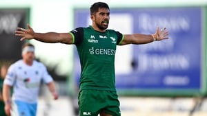 Jarrad Butler lines out for Connacht in Saturday evening's clash
