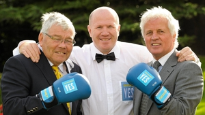 Harry Perry, pictured with Michael Carruth and Mick Dowling in 2011