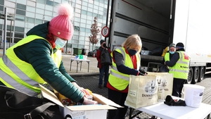 Over the weekend a relief aid project got under way at the car park of Kildare County Council