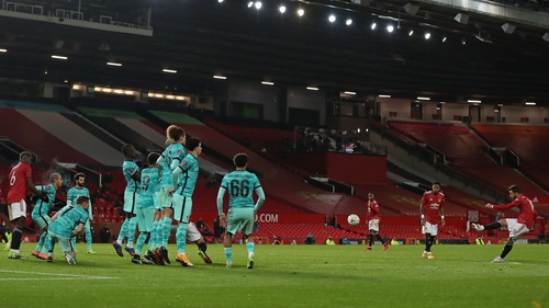 Bruno Fernandes' goal from this set-piece proved the difference at Old Trafford