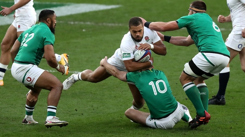 Ollie Lawrence looked a natural on the international stage in England's 18-7 Autumn Nations Cup win over Ireland in November