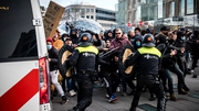 At least 30 people were arrested after protests in the Dutch city of Eindhoven