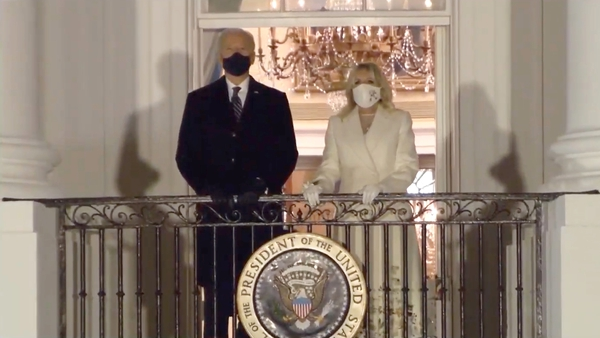 Laura Weber embroidered Jill Biden's dress, coat and facemask for the presidential inauguration