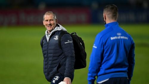 Leinster senior coach Stuart Lancaster, left, and Jonathan Sexton