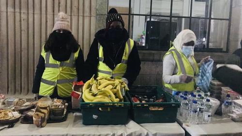 Muslim Sisters of Éire outside Dublin's GPO