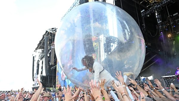The Flaming Lips recently held space bubble concerts