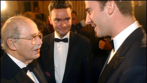 The 90th Birthday of Otto von Habsburg in 2002. L-R: von Habsburg, Archduke Georg and the then prince Felipe of Spain, now that country's King