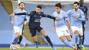 Morgan Sanson in possession for Marseille's against Manchester City in the Champions League last month