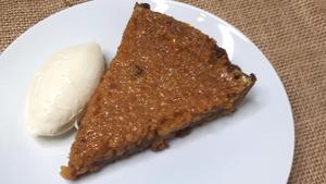 Mags Roche's treacle tart with citrus mascarpone cream.