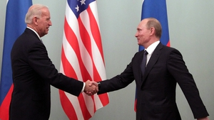 Vladimir Putin meeting Joe Biden in 2011