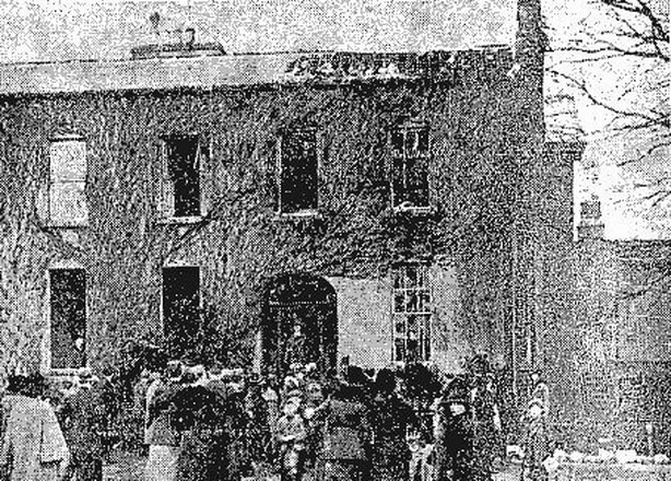 The ruins of Cullenswood House Photo: Freeman's Journal, 31 January 1921