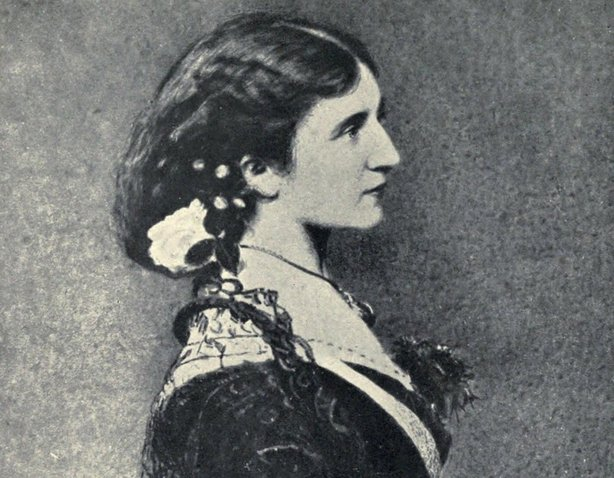 Katharine Parnell (née Wood), also known as Katie or Kitty O'Shea, in 1873 Photo: 'Charles Stewart Parnell; his love story and political life' by Katharine O'Shea