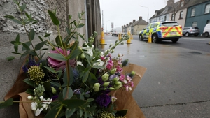 Flowers have been left near the sceneof the stabbing in East Wall (Pic: RollingNews.ie)